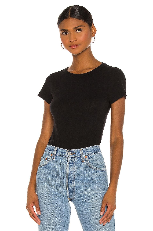 RE/DONE Slim Tee Bodysuit in Black
