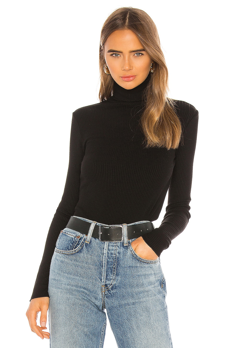 RE/DONE 60s Long Sleeve Turtleneck in Black