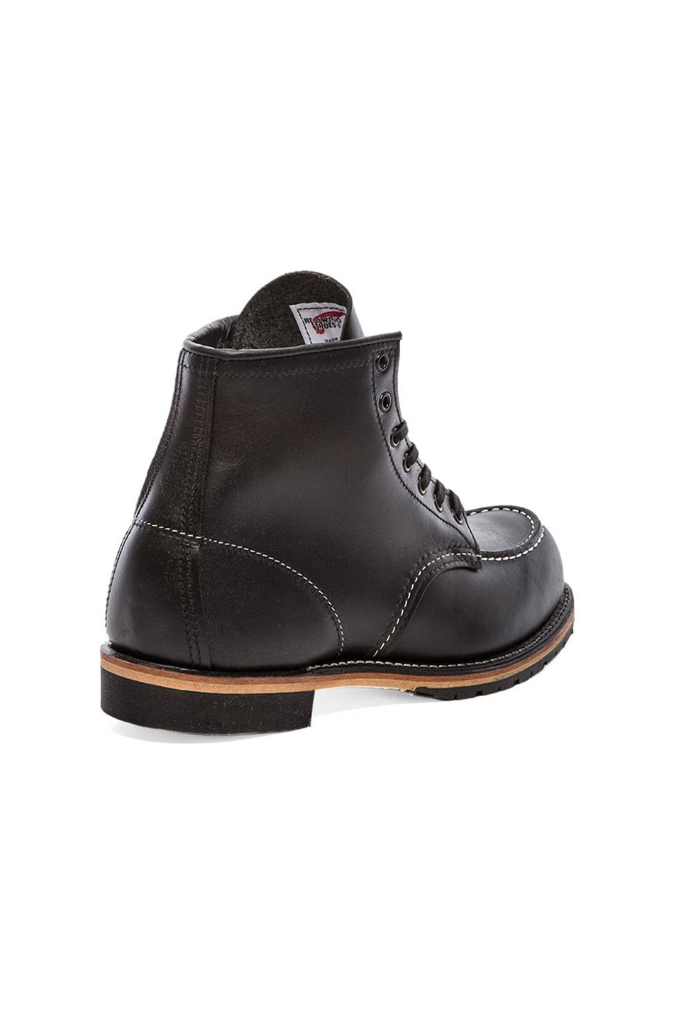 "Red Wing Shoes Beckman 6"" Classic Moc in Black Featherstone"
