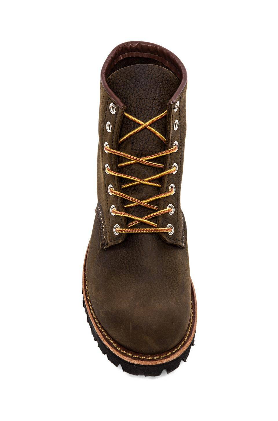 """Red Wing Shoes 6"""" Round Lug in Olive Brown Roughneck"""