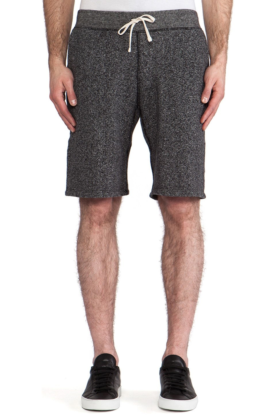 Reigning Champ Sweatshort in Black & Natural