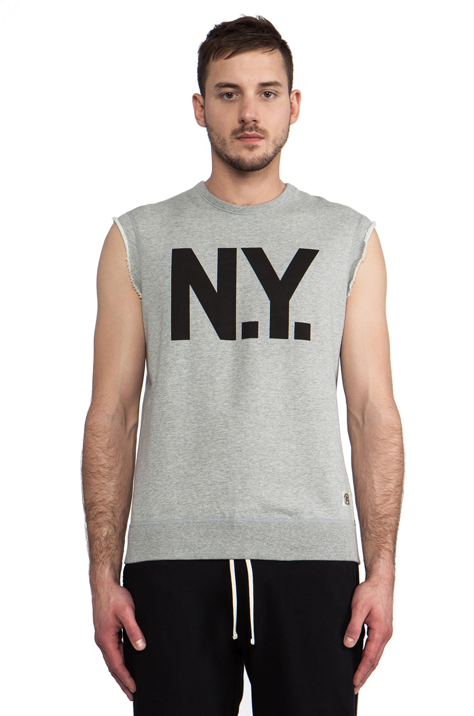 Reigning Champ x Everlast Sporting Goods Sleeveless Crewneck in Heather Grey