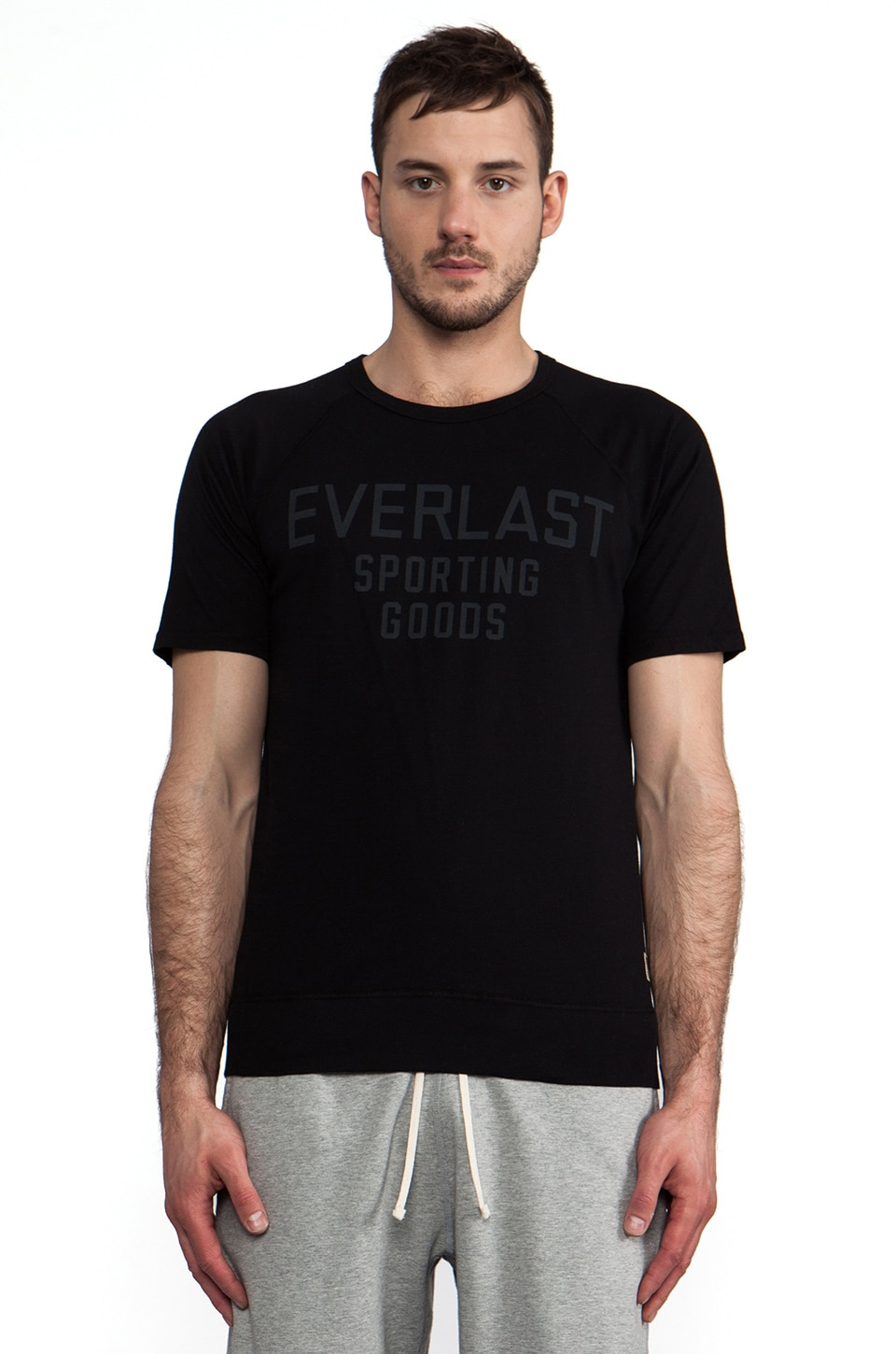 Reigning Champ x Everlast Sporting Goods Raglan Tee in Black