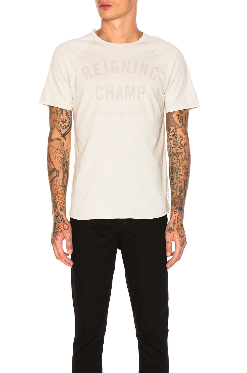 Gym Logo Raglan Tee by Reigning Champ