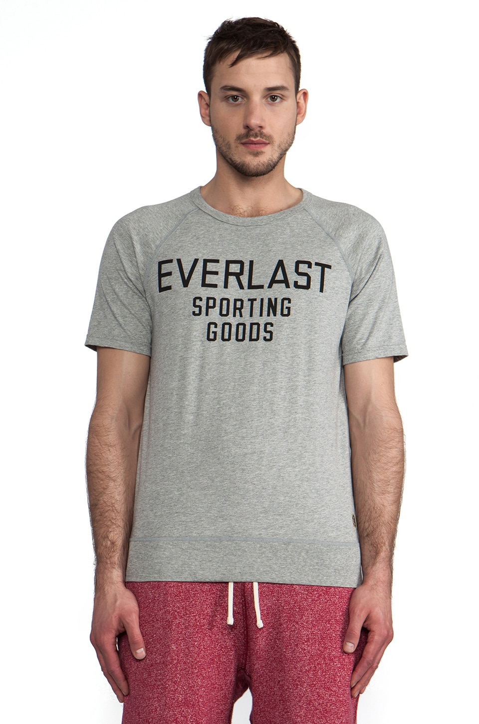Reigning Champ x Everlast Sporting Goods Raglan Tee in Heather Grey