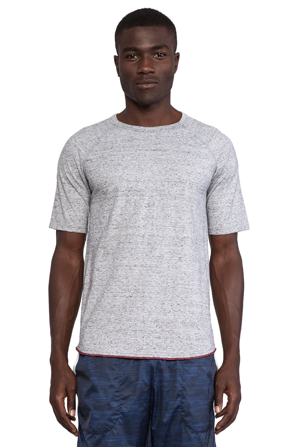 Reigning Champ Raglan Tee in Heather Grey