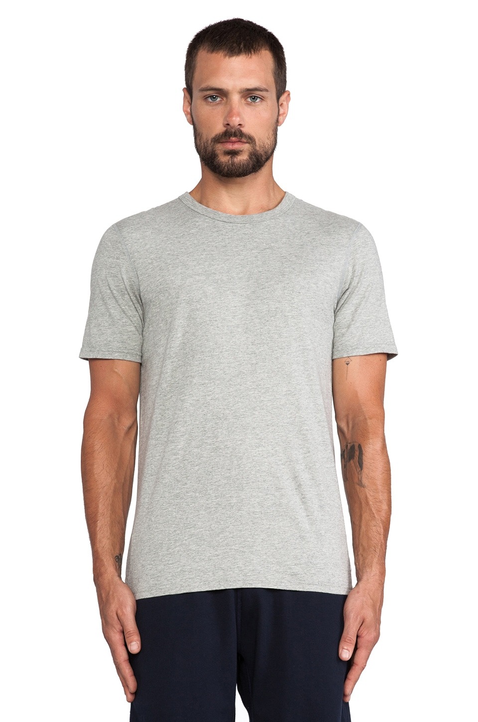Reigning Champ 2-Pack Tee in Heather Grey