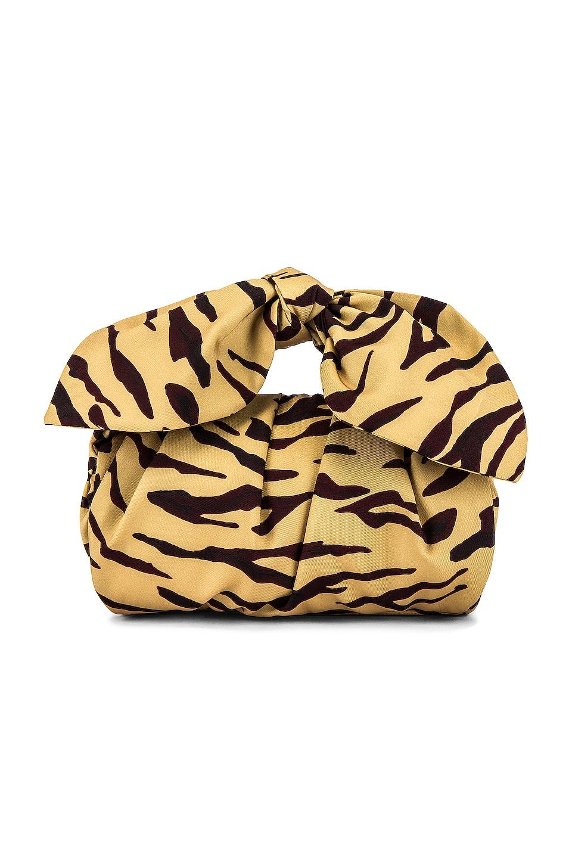 REJINA PYO Nane Bag in Cotton Print Tiger Beige