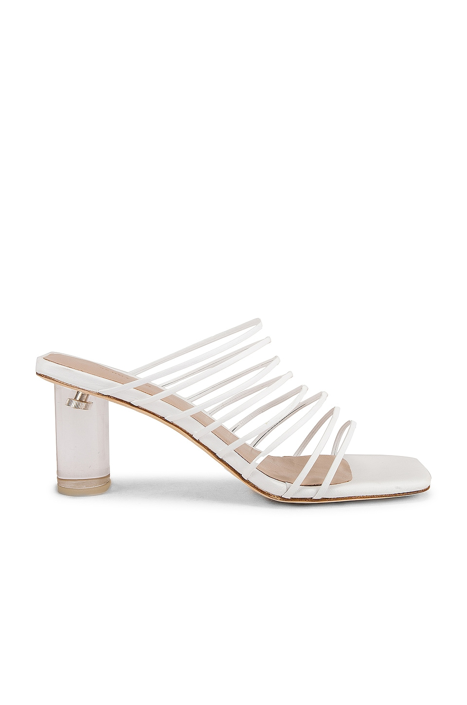 REJINA PYO Zoe Sandal in Leather White