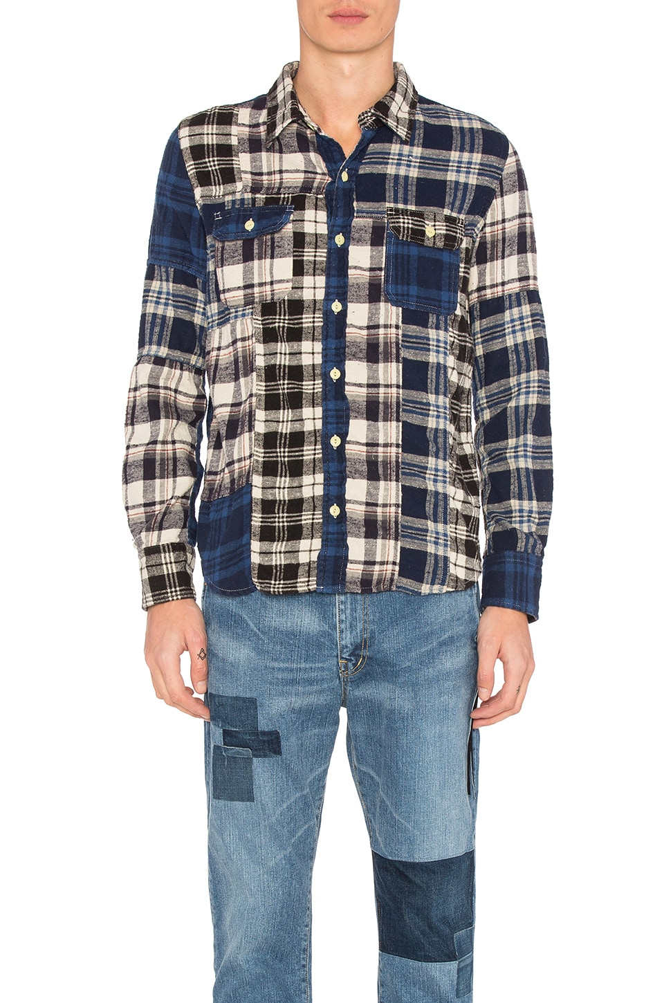 Patchwork Flannel Shirt by Remi Relief