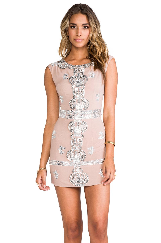 renzo + kai Laura Sequin Dress in Blush/Silver