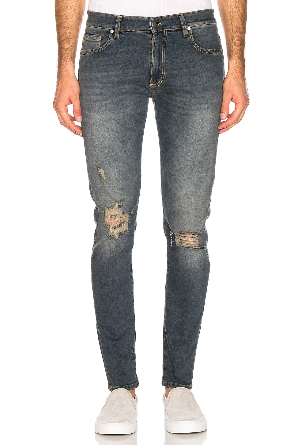 REPRESENT Destroyer Denim Jeans en Faded Blue