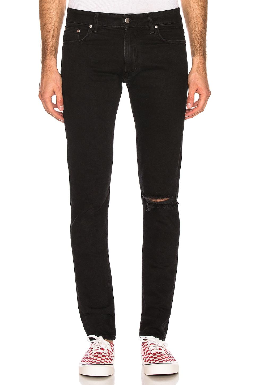 REPRESENT Blow Knee Denim Jeans in Black