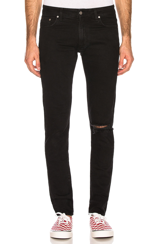 REPRESENT Blow Knee Denim Jeans en Black