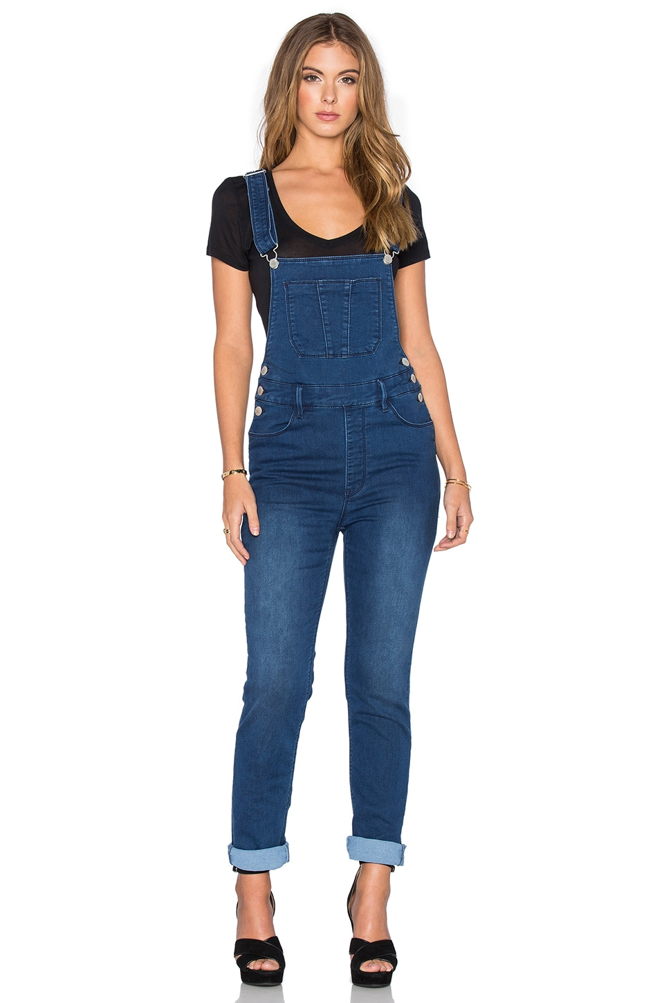 RES Denim Hang Loose Overalls in Inked