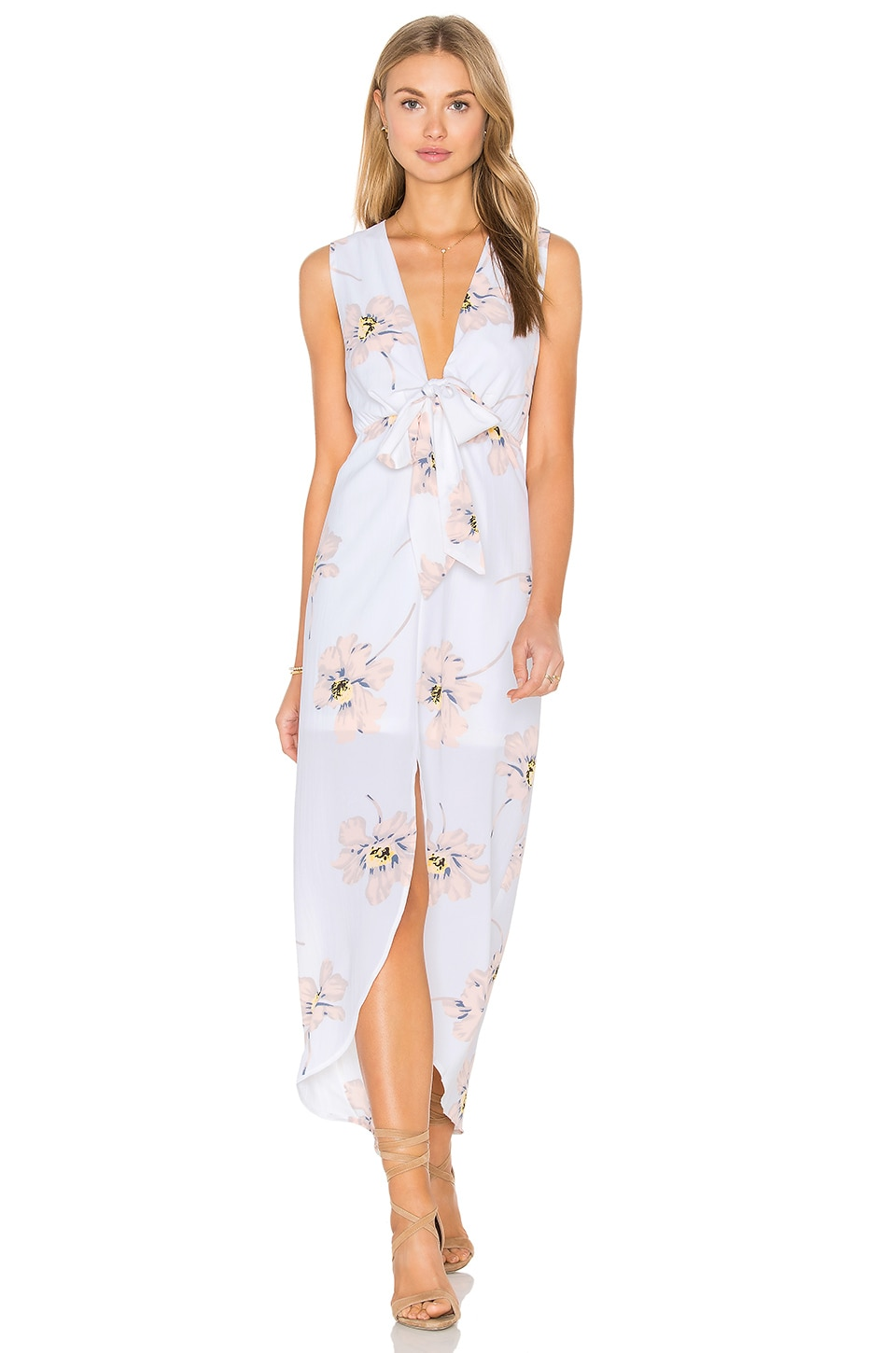 REVERSE Lena Dress in White Pink Floral