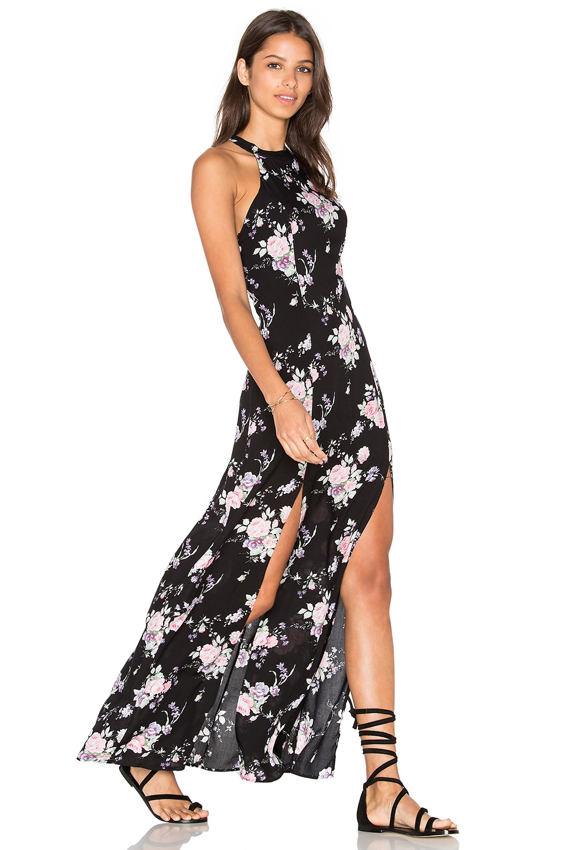 REVERSE Saturday Brunch Dress in Black Floral