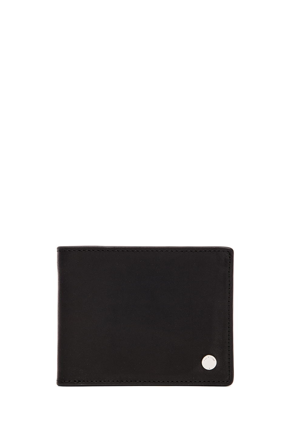 Rag & Bone Bi Fold Wallet in Black Leather