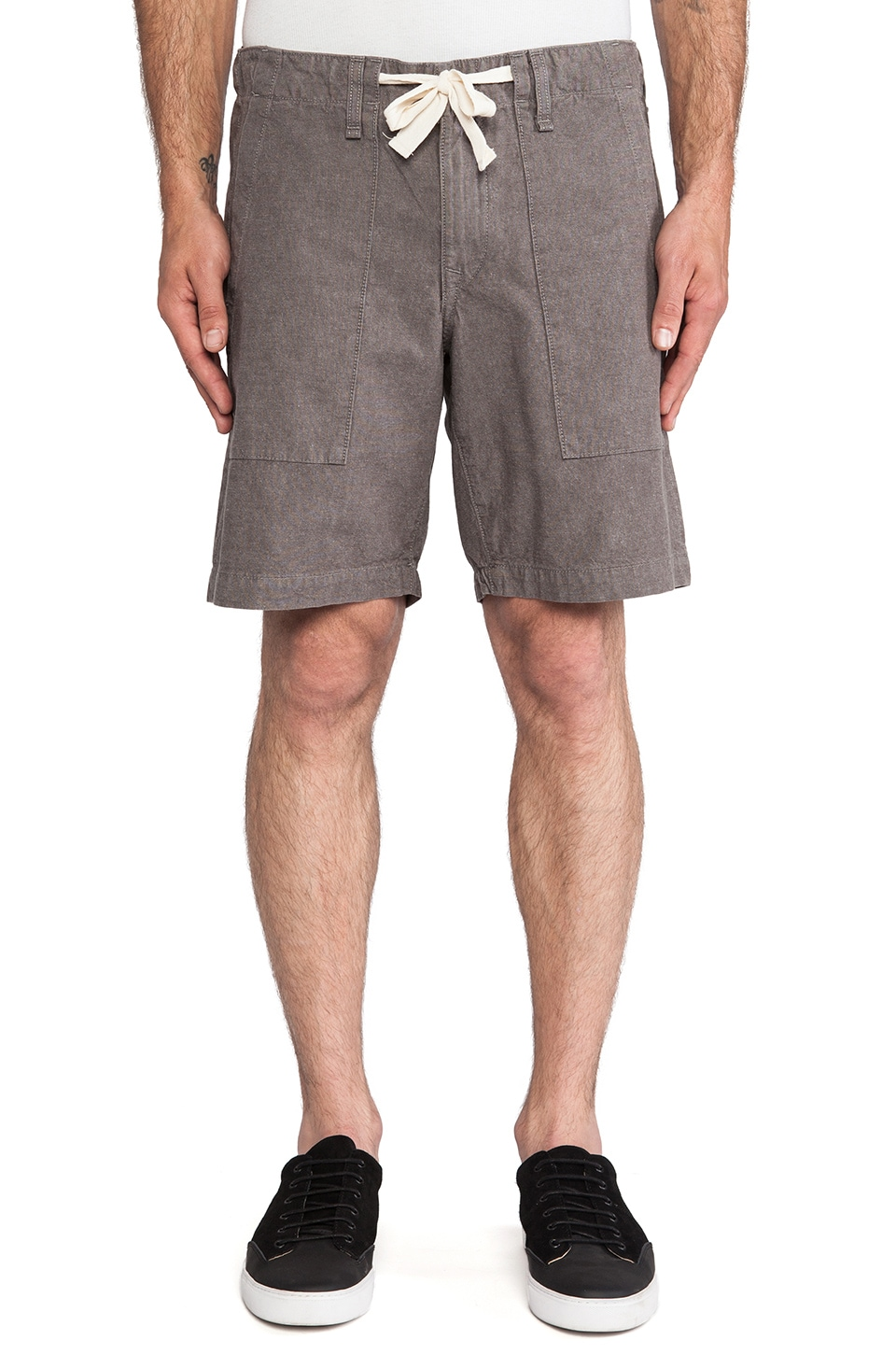 Rag & Bone Surf Short in Grey Chambray