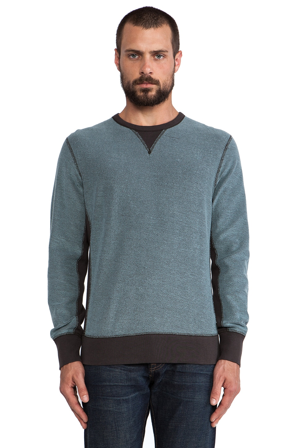 Rag & Bone Reversible Sweatshirt in Light Black