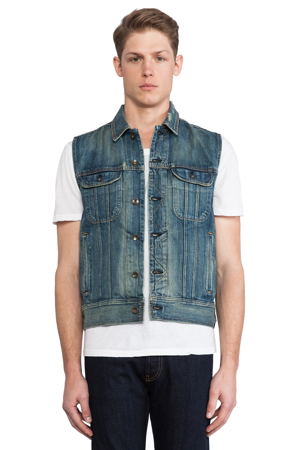 Rag & Bone Denim Vest in Cromwell
