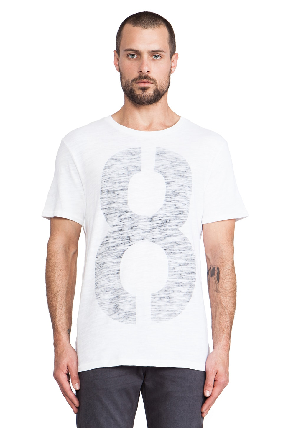 Rag & Bone Numbers Tee in White