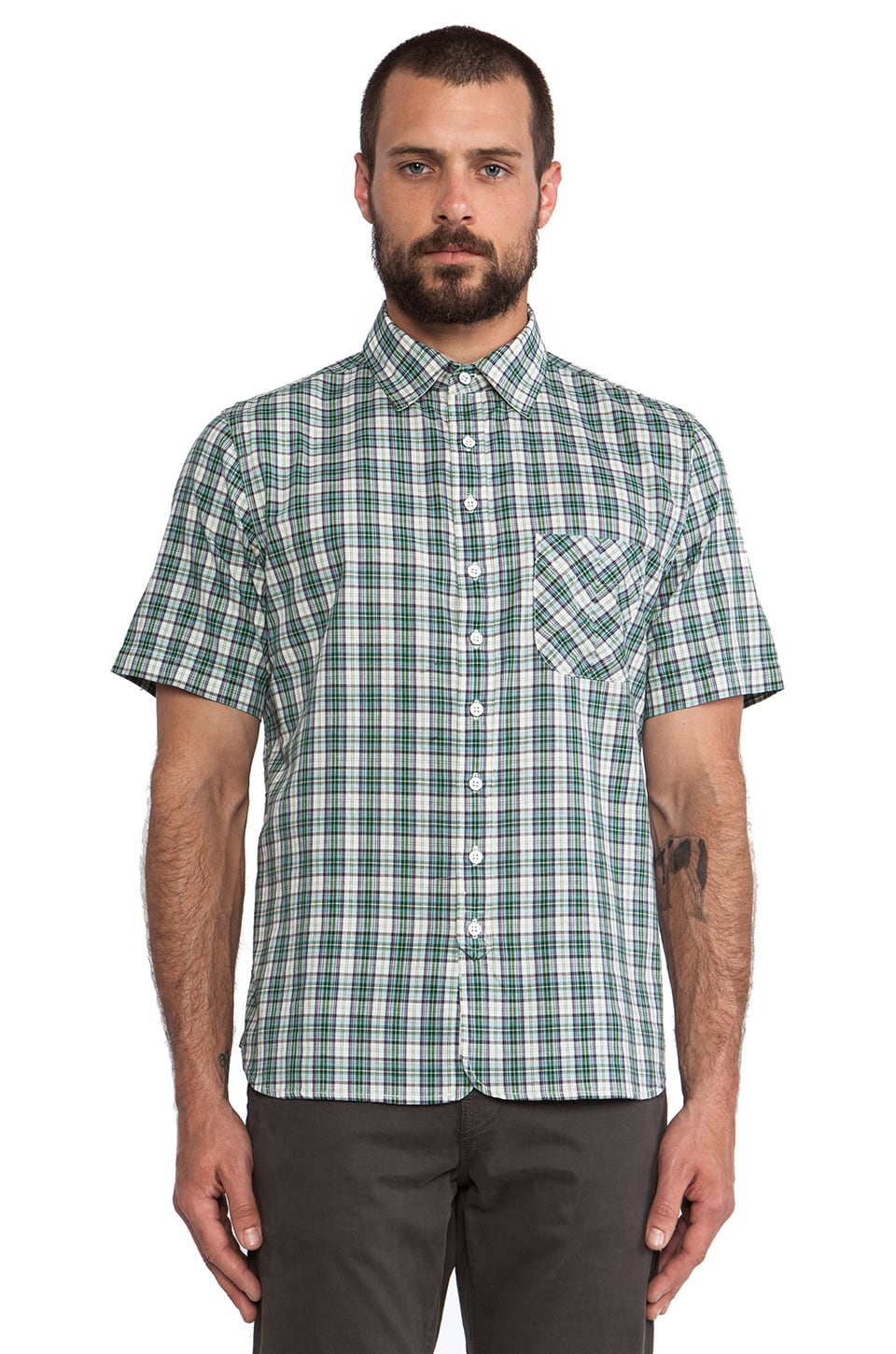 rag & bone Placket Shirt in Teal