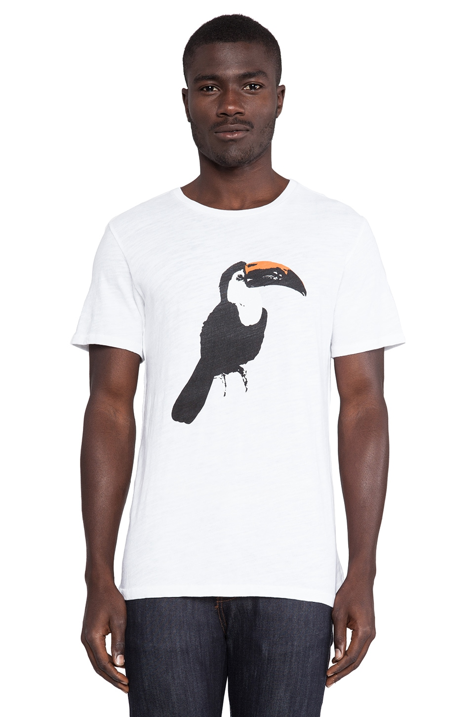 Rag & Bone Graphic Tee in Bright White