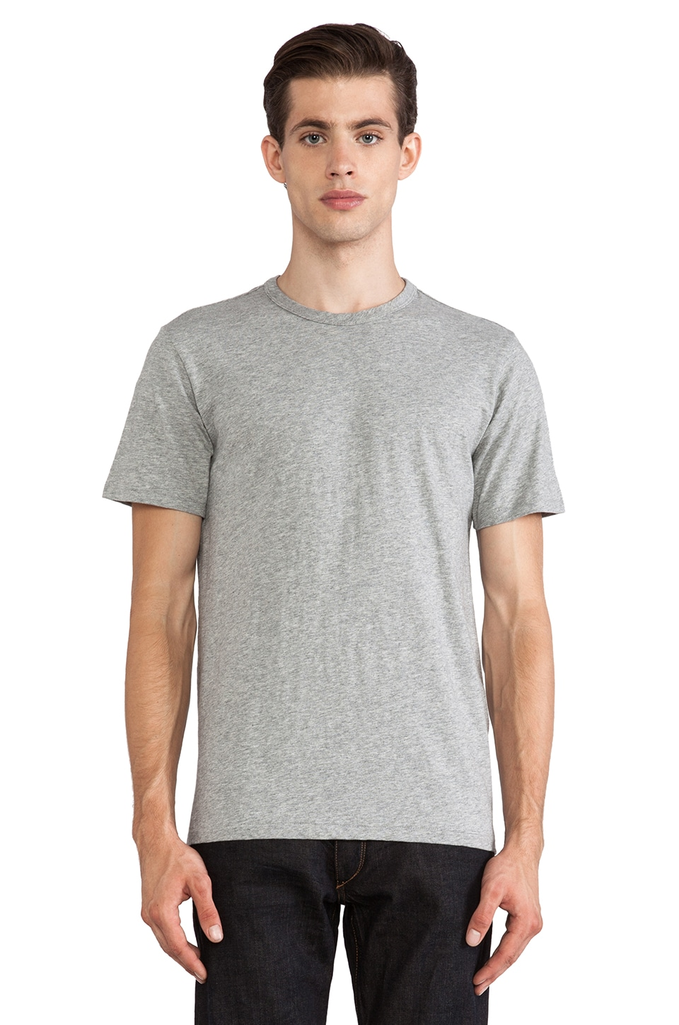 Rag & Bone Perfect Jersey Tee in Grey Heather