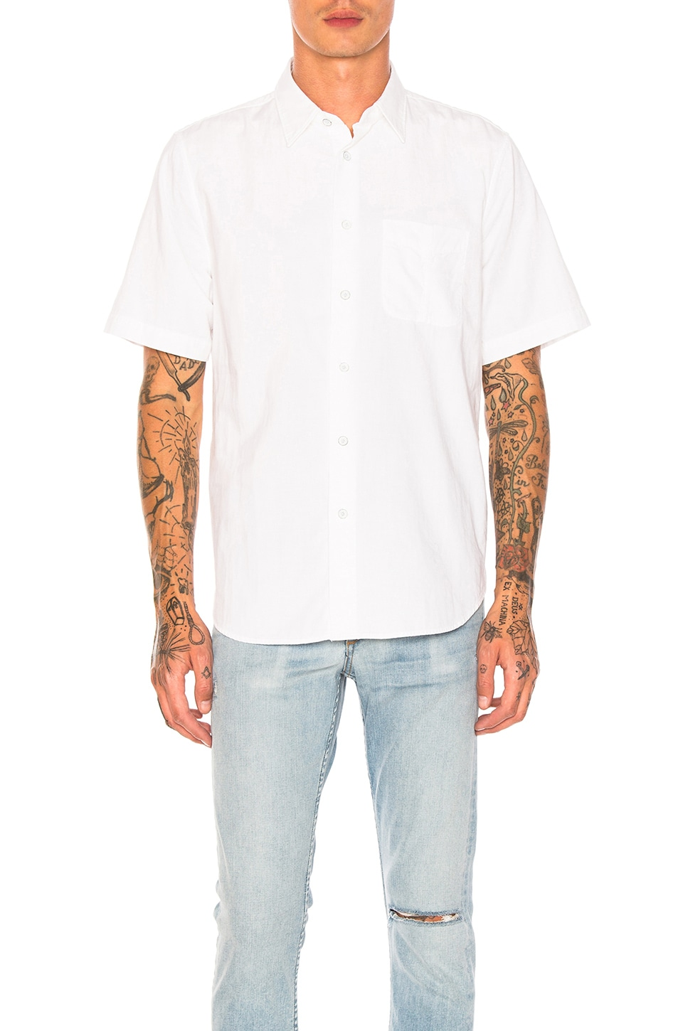 Rag & Bone Standard Issue Beach Shirt in White