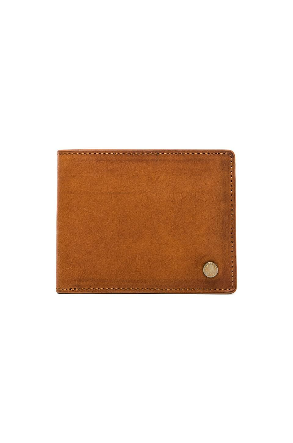Rag & Bone Bi Fold Wallet in Brown Leather