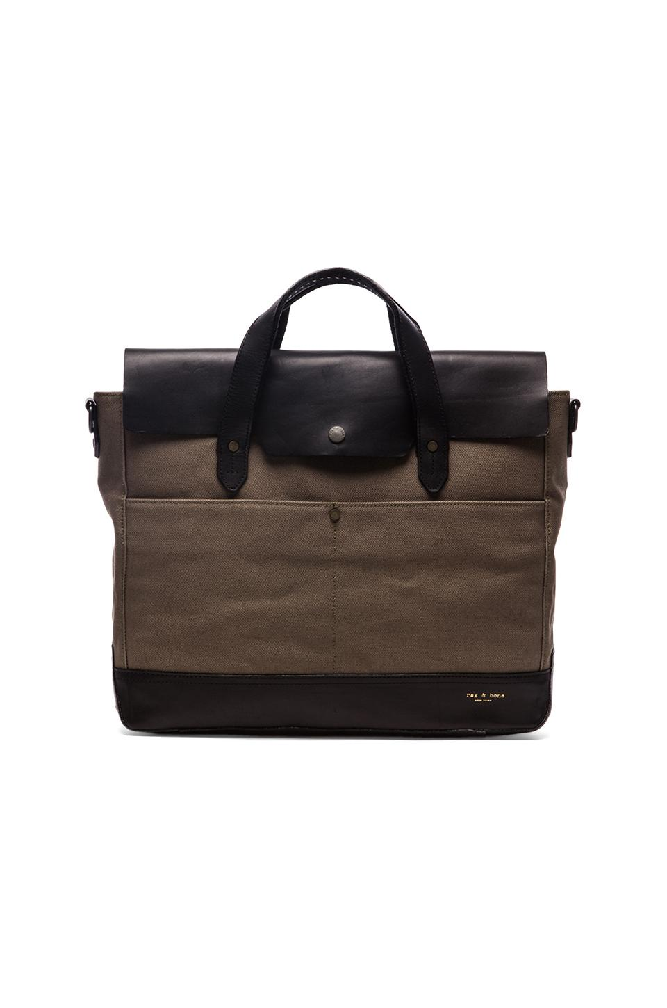 Rag & Bone Rugged Briefcase in Army