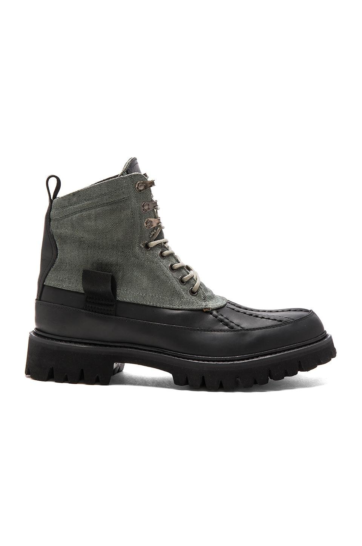 Rag & Bone Spencer Duck Boot High in Dark Green Combo