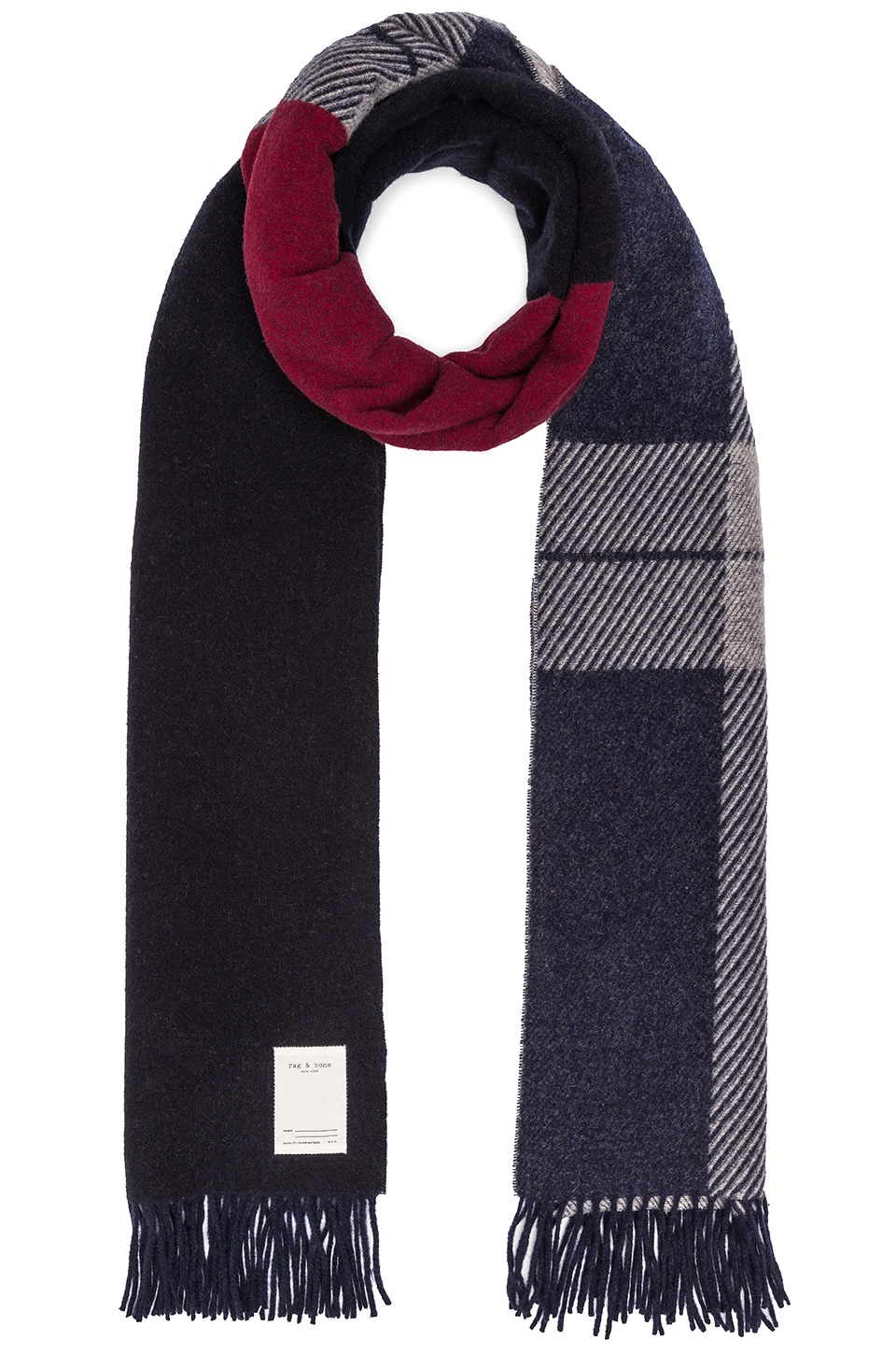 Mixed Check Scarf