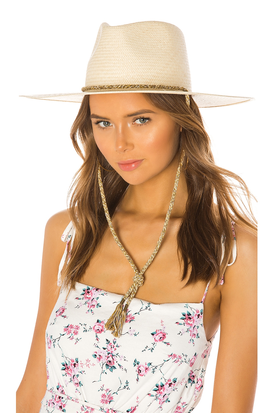 Rag & Bone Wide Brim Panama Hat in Natural
