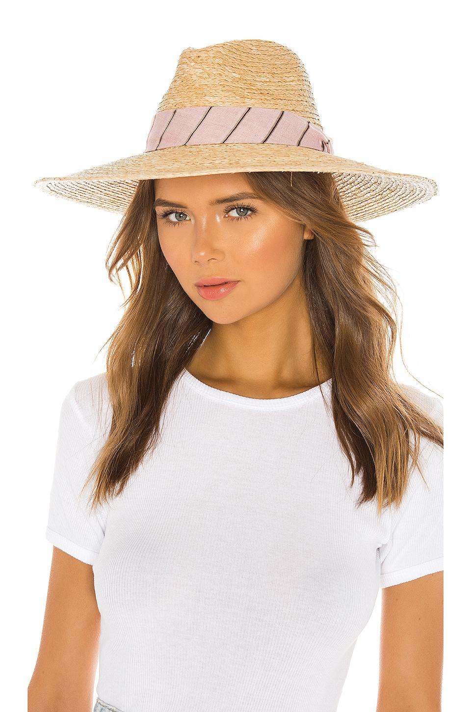 Rag & Bone Sewn Straw Panama Hat in Pink Multi