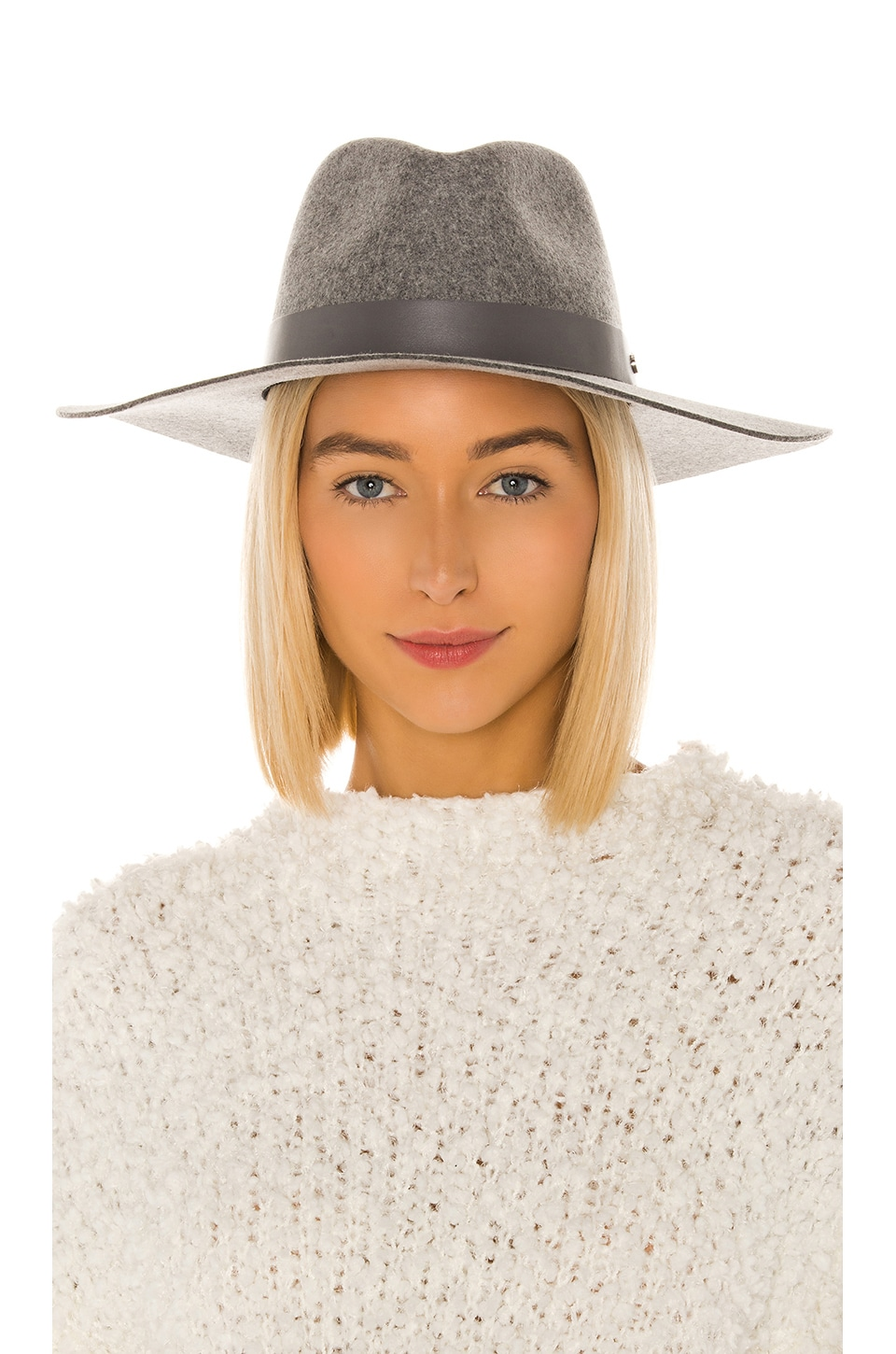 Rag & Bone Kacy Fedora in Ice Grey