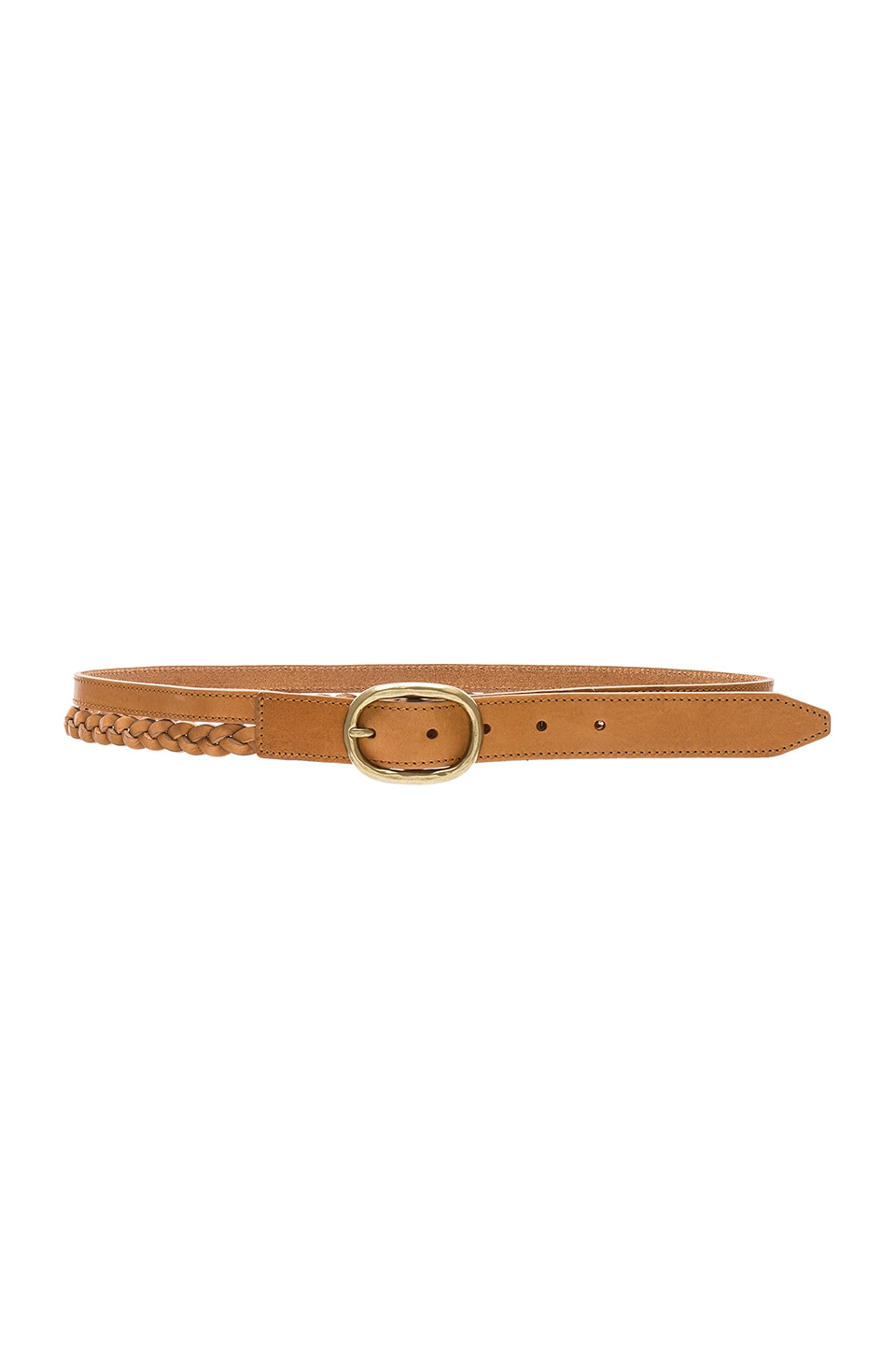 Rag & Bone Calla Braided Belt in Tan