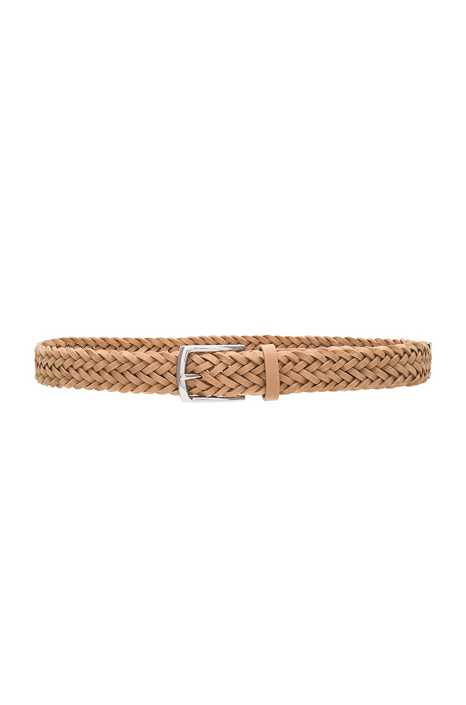 Rag & Bone Slim Braided Belt in Natural