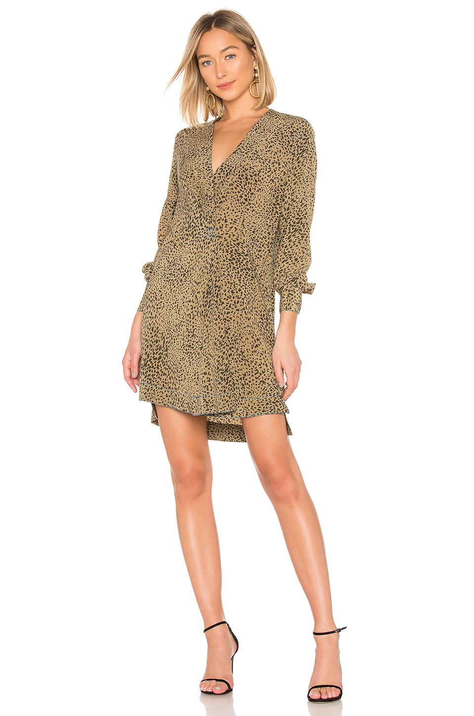 Rag & Bone Shields Dress in Olive Multi