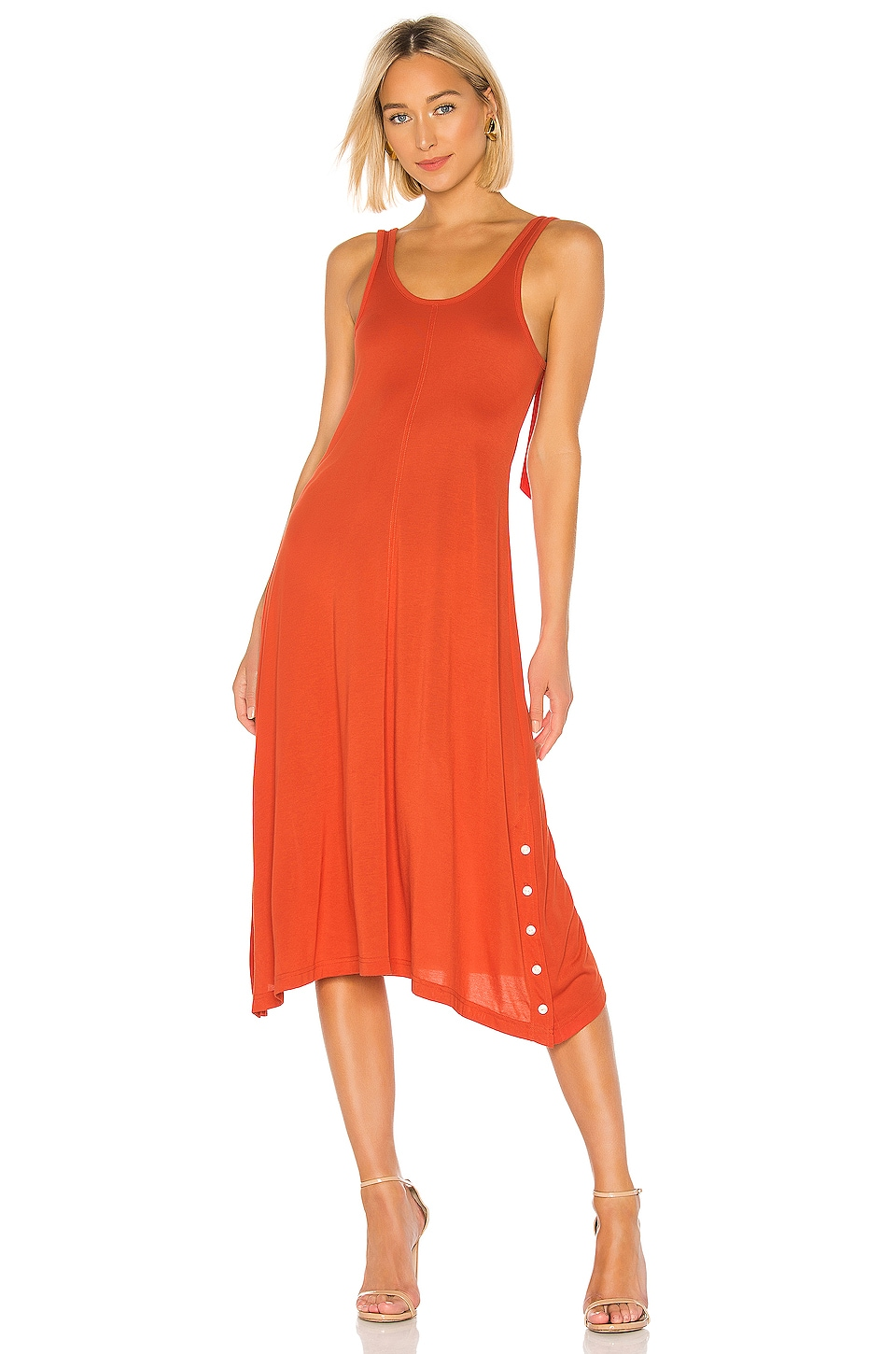 Rag & Bone Allegra Tank Dress in Fire Red