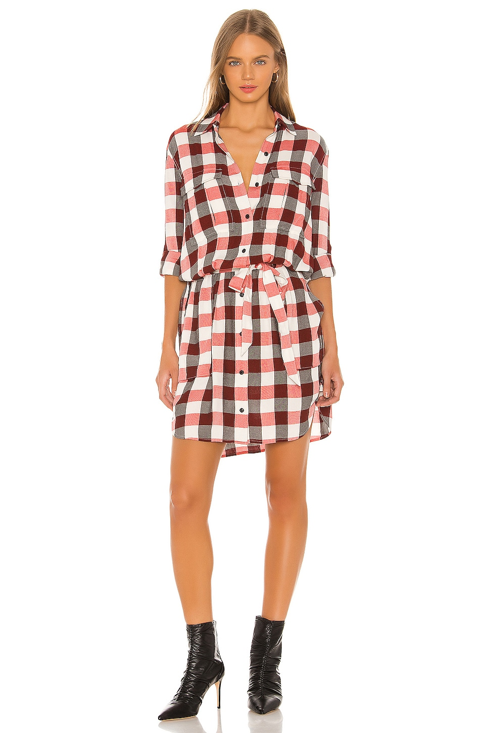 Rag & Bone Beck Dress in Red Ivory