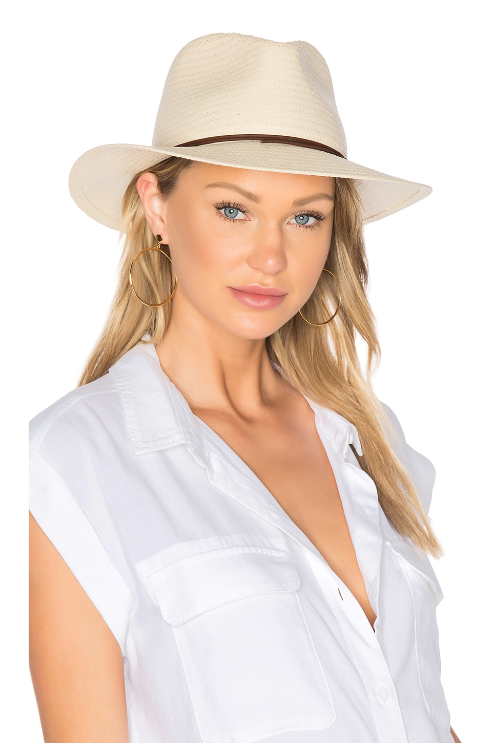 Rag & Bone Straw Fedora in Natural
