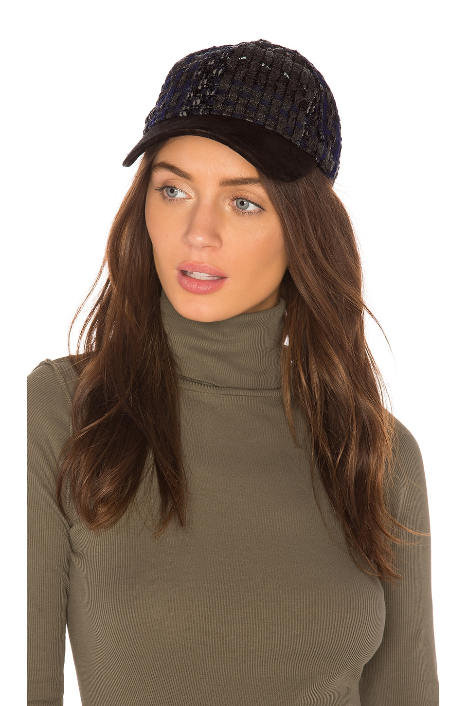 f44206d84b5 Rag   Bone Marilyn Baseball Cap in Blue Tweed