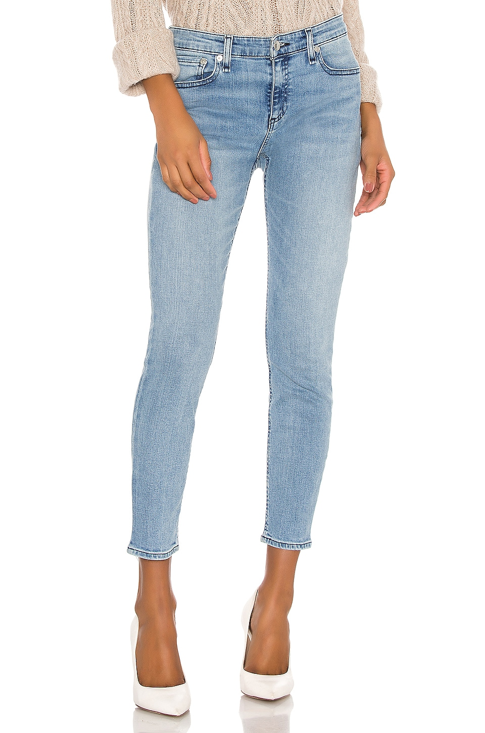 Rag & Bone Cate Mid Rise Ankle Skinny in Sailor Town