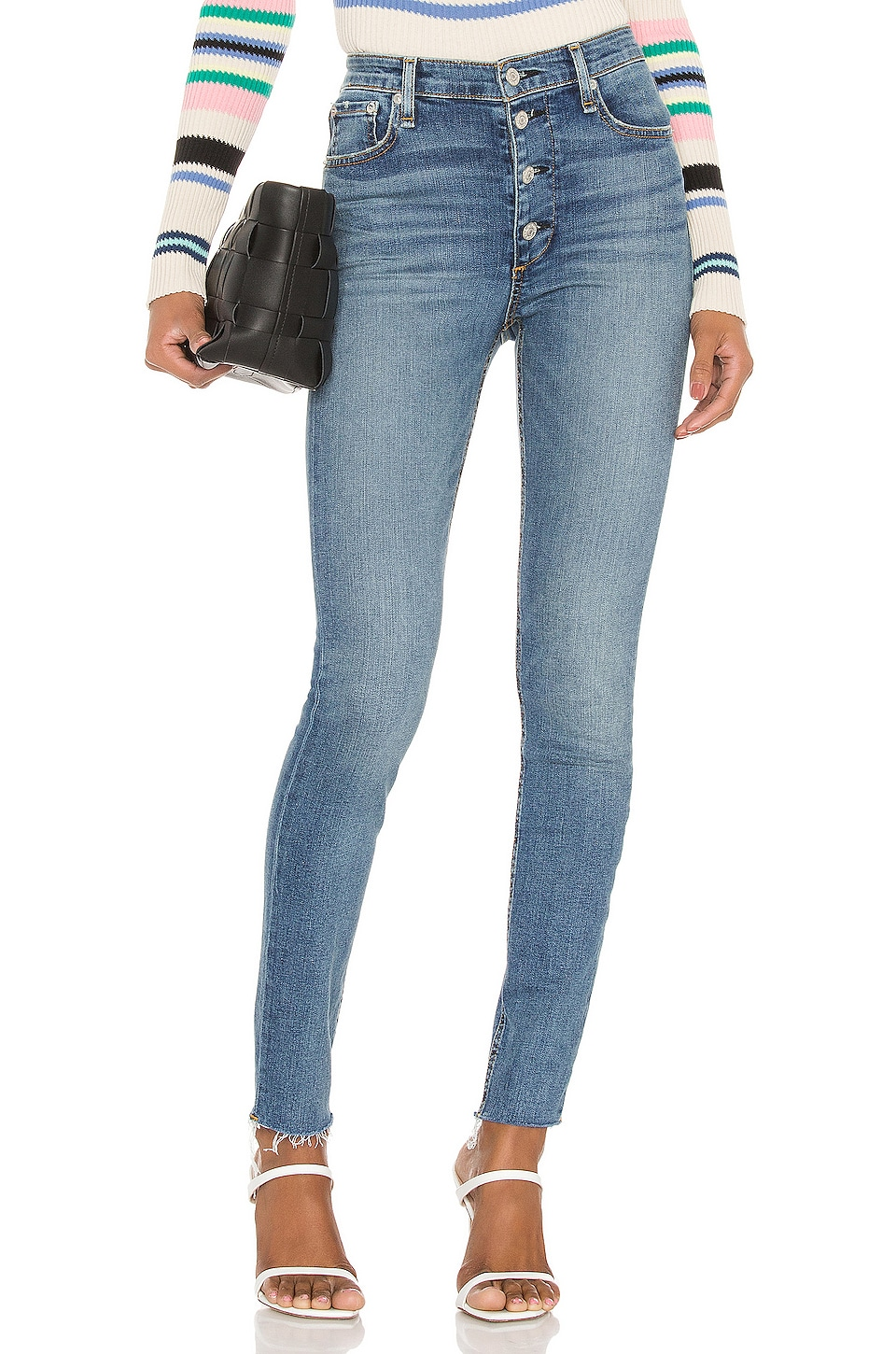 Rag & Bone Nina High Rise Skinny in Fire Island