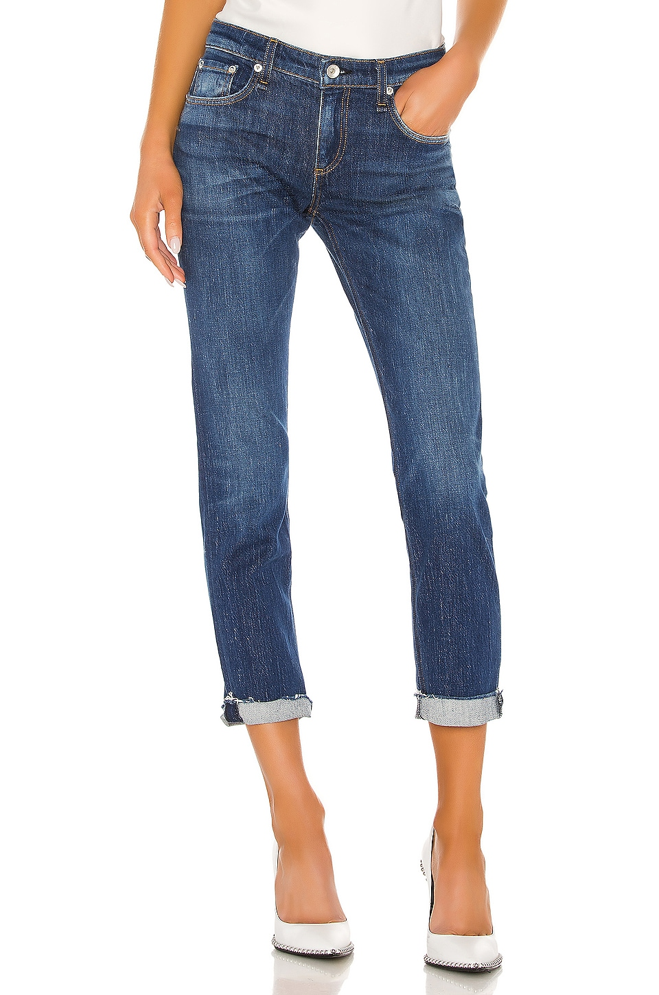 Rag & Bone Dre Low Rise Slim Boyfriend in Magnus