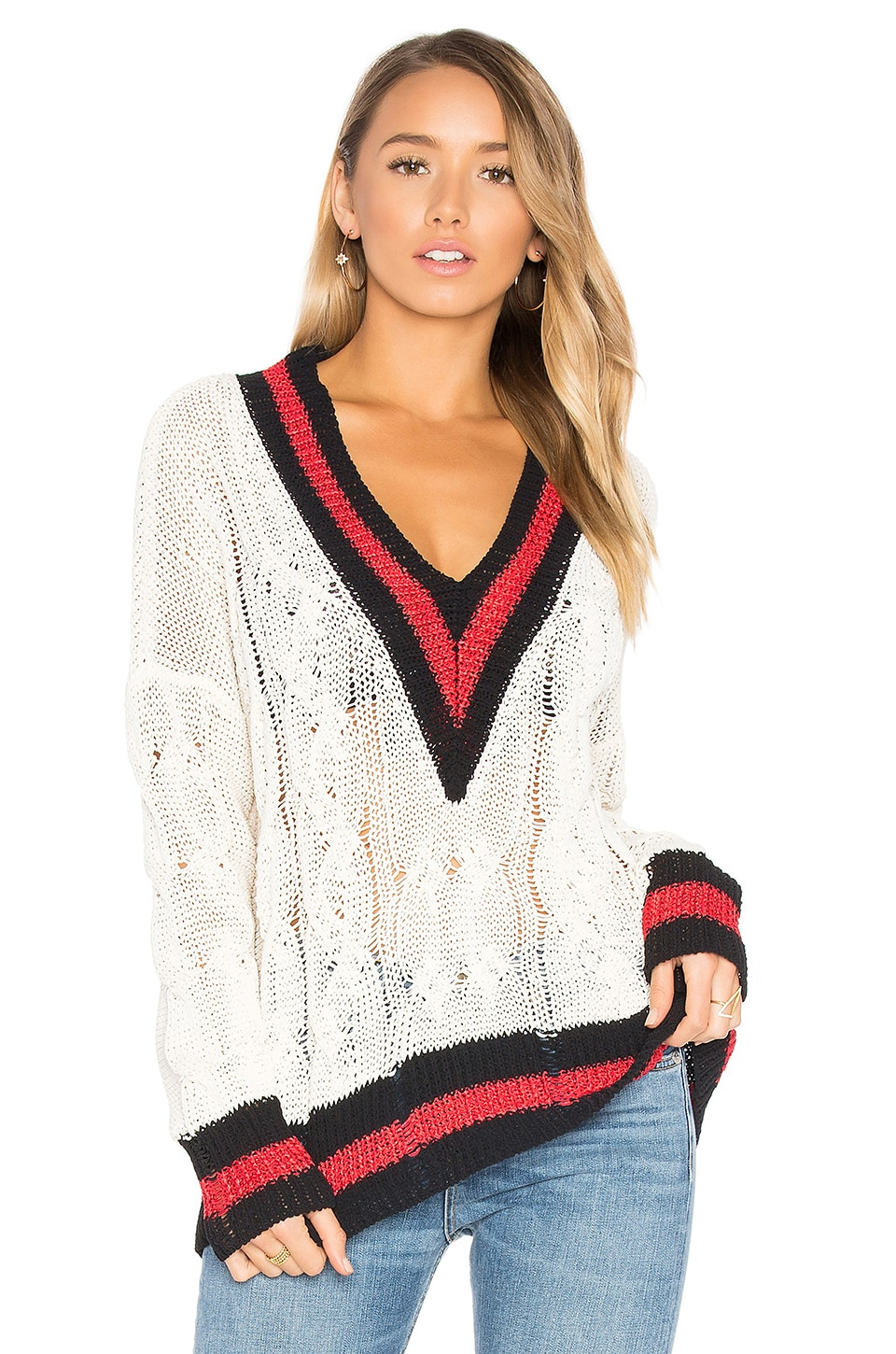 Rag & Bone Emma Sweater in White