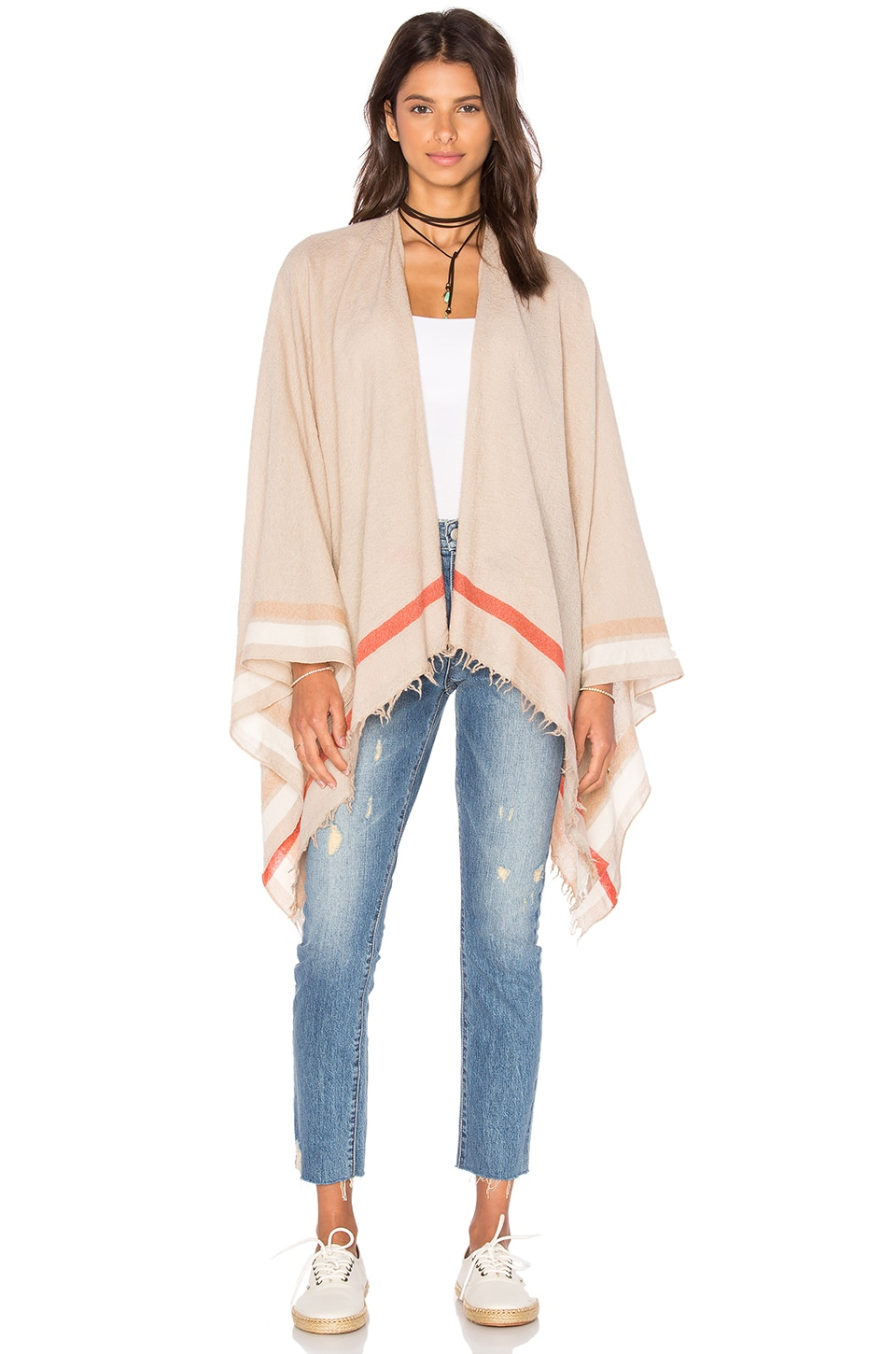 Rag & Bone Addie Poncho in Tan