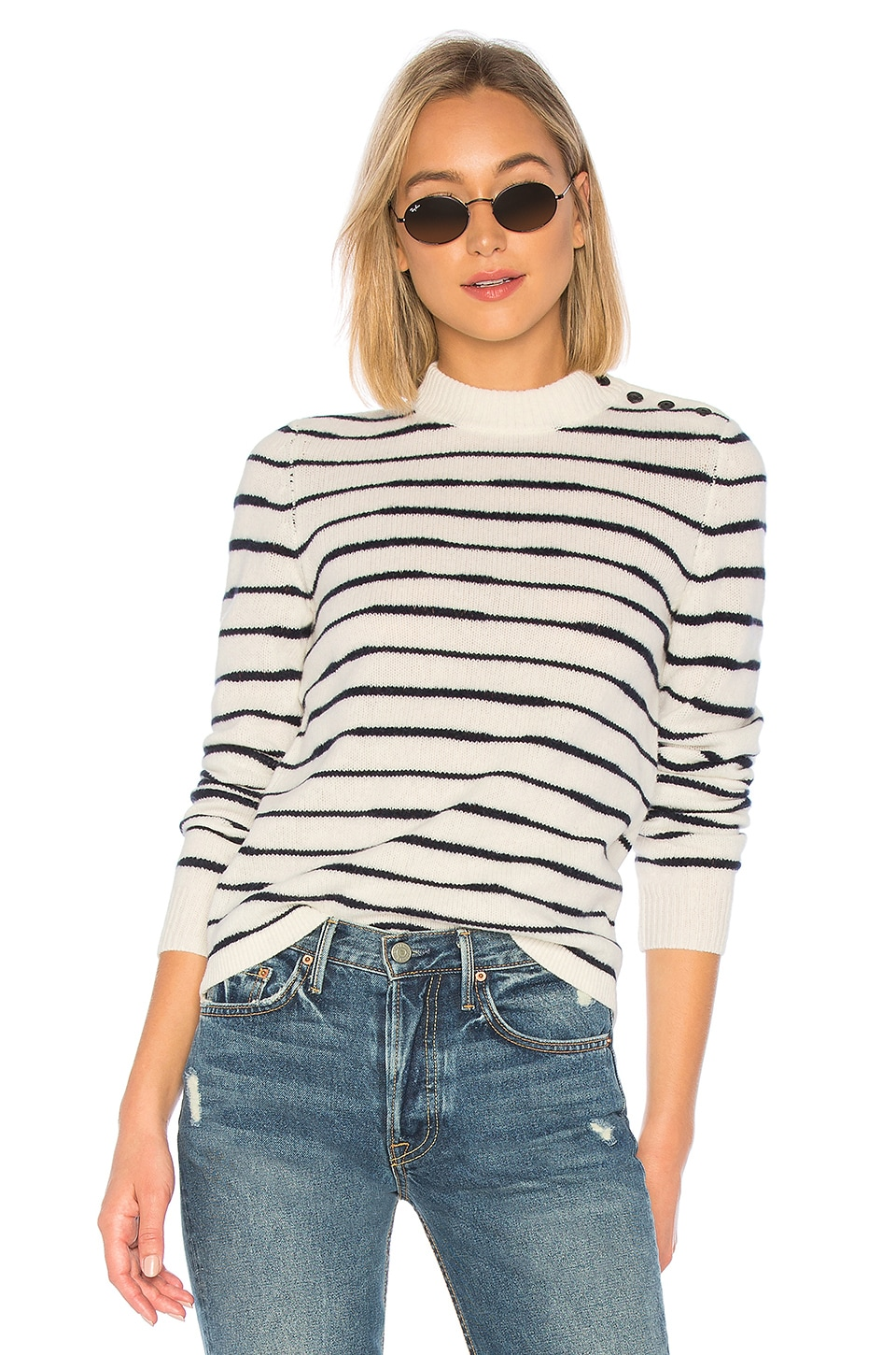 Rag & Bone Sammy Sweater in Ivory & Navy